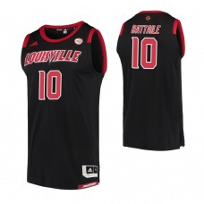 Louisville Cardinals #10 Wyatt Battaile Replica Black Jersey