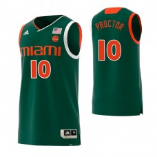 Miami Hurricanes #10 Dominic Proctor Replica Green Jersey