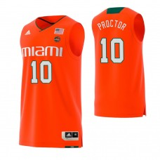 Miami Hurricanes #10 Dominic Proctor Replica Orange Jersey