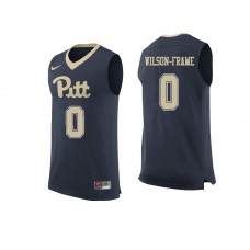 Pittsburgh Panthers #0 Jared Wilson-Frame Navy College Basketball Jersey