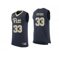 Pittsburgh Panthers #33 Monty Boykins Navy College Basketball Jersey