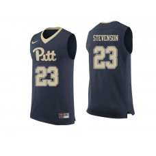 Pittsburgh Panthers #23 Shamiel Stevenson Navy College Basketball Jersey