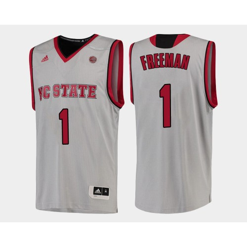 NC State WolfPack #1 Lennard Freeman White Home College Basketball Jersey