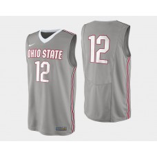 Ohio State Buckeyes #12 Sam Thompson Gray Alternate College Basketball Jersey