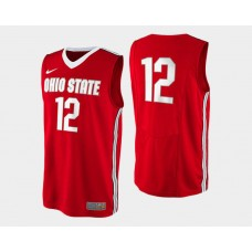 Ohio State Buckeyes #12 Sam Thompson Red Road College Basketball Jersey