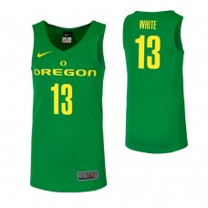 Oregon Ducks #13 Paul White Green College Basketball Jersey