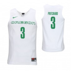 Oregon Ducks #3 Payton Pritchard White College Basketball Jersey