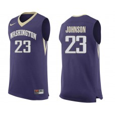 Washington Huskies Carlos Johnson Road Purple Jersey