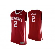 Oklahoma Sooners #2 Chris Giles Red College Basketball Jersey