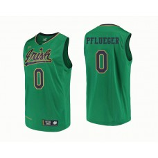 Notre Dame Fighting Irish #0 Rex Pflueger Green College Basketball Jersey