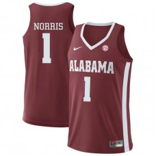 Alabama Crimson Tide #1 Riley Norris Red College Basketball Jersey