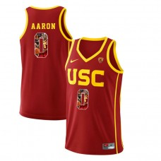 USC Trojans #0 Shaqquan Aaron Red College Basketball Jersey