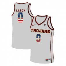 USC Trojans #0 Shaqquan Aaron White College Basketball Jersey