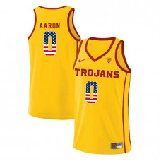 USC Trojans #0 Shaqquan Aaron Yellow College Basketball Jersey