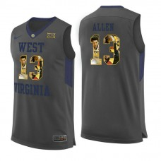 West Virginia Mountaineers #13 Teddy Allen Gray College Basketball Jersey