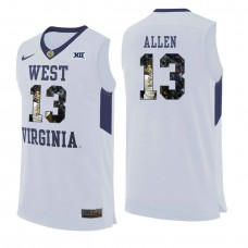 West Virginia Mountaineers #13 Teddy Allen White College Basketball Jersey