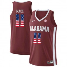 Alabama Crimson Tide #11 Tevin Mack Red College Basketball Jersey