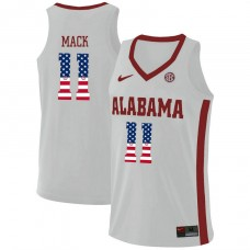 Alabama Crimson Tide #11 Tevin Mack White College Basketball Jersey