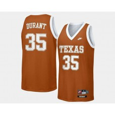 Texas LongHorns #35 Kevin Durant Orange Road College Basketball Jersey