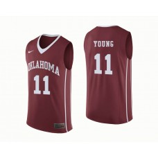 Oklahoma Sooners #11 Trae Young Crimson College Basketball Jersey