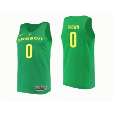 Oregon Ducks #0 Troy Brown Green College Basketball Jersey