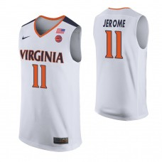Virginia Cavaliers #11 Ty Jerome White College Basketball Jersey