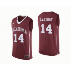 Oklahoma Sooners #14 Ty Lazenby Crimson College Basketball Jersey