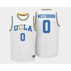 UCLA Bruins #0 Russell Westbrook White Home College Basketball Jersey