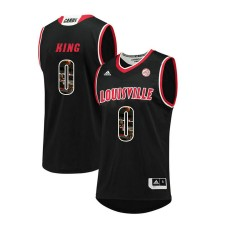 Louisville Cardinals #0 V.J. King Black College Basketball Jersey