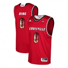 Louisville Cardinals #0 V.J. King Red College Basketball Jersey