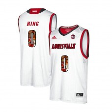 Louisville Cardinals #0 V.J. King White College Basketball Jersey