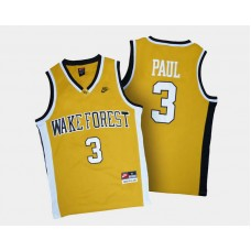 Wake Forest Demon Deacons #3 Chris Paul Gold Alternate College Basketball Jersey