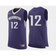Washington Huskies #12 Andrew Andrews Purple College Basketball Jersey