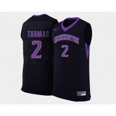 Washington Huskies #2 Isaiah Thomas Black Alternate College Basketball Jersey