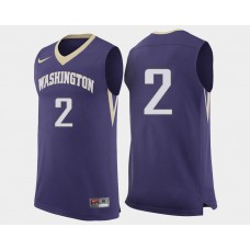 Washington Huskies #2 Isaiah Thomas Purple Road College Basketball Jersey