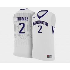 Washington Huskies #2 Isaiah Thomas White Home College Basketball Jersey