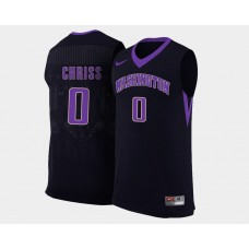 Washington Huskies #0 Marquese Chriss Black Alternate College Basketball Jersey