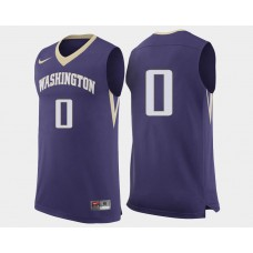 Washington Huskies #0 Marquese Chriss Purple Road College Basketball Jersey