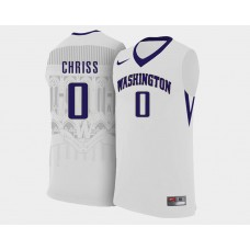 Washington Huskies #0 Marquese Chriss White Home College Basketball Jersey