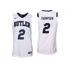 Butler Bulldogs #2 Aaron Thompson White College Basketball Jersey