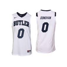 Butler Bulldogs #0 Campbell Donovan White College Basketball Jersey