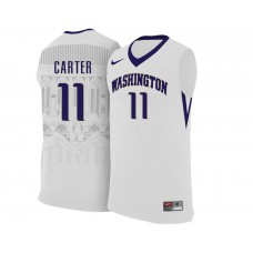 Washington Huskies #11 Nahziah Carter white College Basketball Jersey