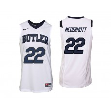 Butler Bulldogs #22 Sean McDermott White College Basketball Jersey