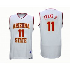 Arizona State Sun Devils #11 Shannon Evans II White College Basketball Jersey