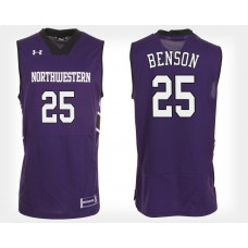 Northwestern Wildcats #25 Barret Benson Purple Home College Basketball Jersey