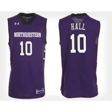 Northwestern Wildcats #10 Charlie Hall Purple Home College Basketball Jersey