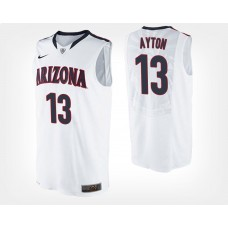Arizona Wildcats #13 Deandre Ayton White Road College Basketball Jersey