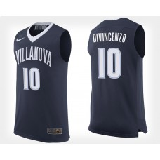 Villanova Wildcats #10 Donte DiVincenzo Navy Home College Basketball Jersey