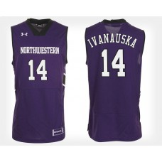 Northwestern Wildcats #14 Rapolas Ivanauskas Purple Home College Basketball Jersey