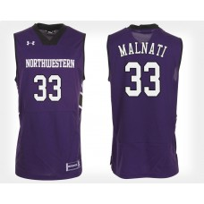 Northwestern Wildcats #33 Tino Malnati Purple Home College Basketball Jersey